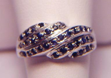 5 ROW SAPPHIRE SWIRL RING