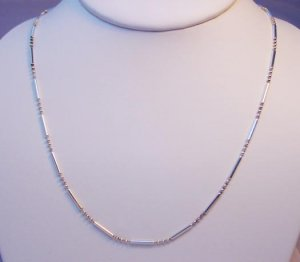 BALL AND BEAD LINK NECKLACE