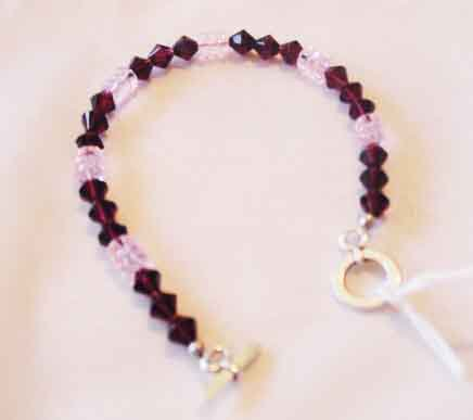 PURPLE SWAROVSKI CRYSTAL BRACELET