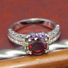 Amazing red topaz ring