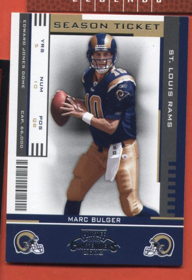 Marc Bulger  #89 RAMS 2005 Playoff Contenders Season Ticket
