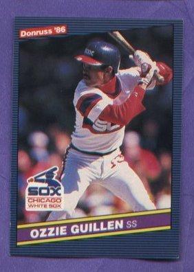 Ozzie Guillen #208 White Sox 1986 Donruss baseball card