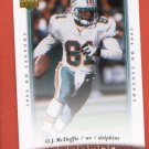 O.J. McDuffie #8 Miami Dolphins 2006 Upper Deck Legends
