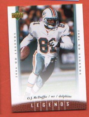 O.J. McDuffie #8 Miami Dolphins 2006 Upper Deck Legends