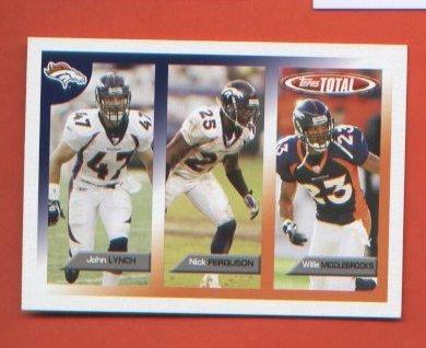 John Lynch Nick Ferguson Willie Middlebrooks #414 2005 Topps Total Denver Broncos
