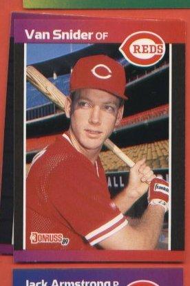 Van Snider #586 Reds  1989 Donruss