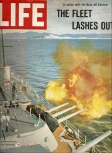 The Fleet Lashes Out U.S.S. Oklahoma City LIFE 8/6/1965