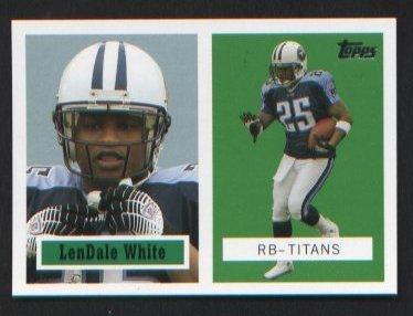 LenDale White 6 of 22 Titans 2006 Topps Turn Back the Clock