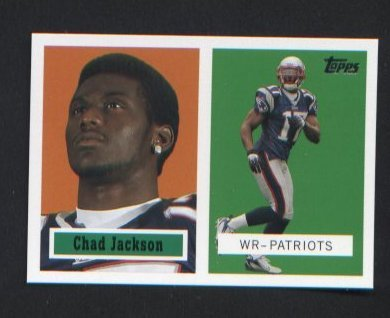 Chad Jackson #10 of 22 N.E. Patriots 2006 ROOKIE Topps Turn Back the Clock