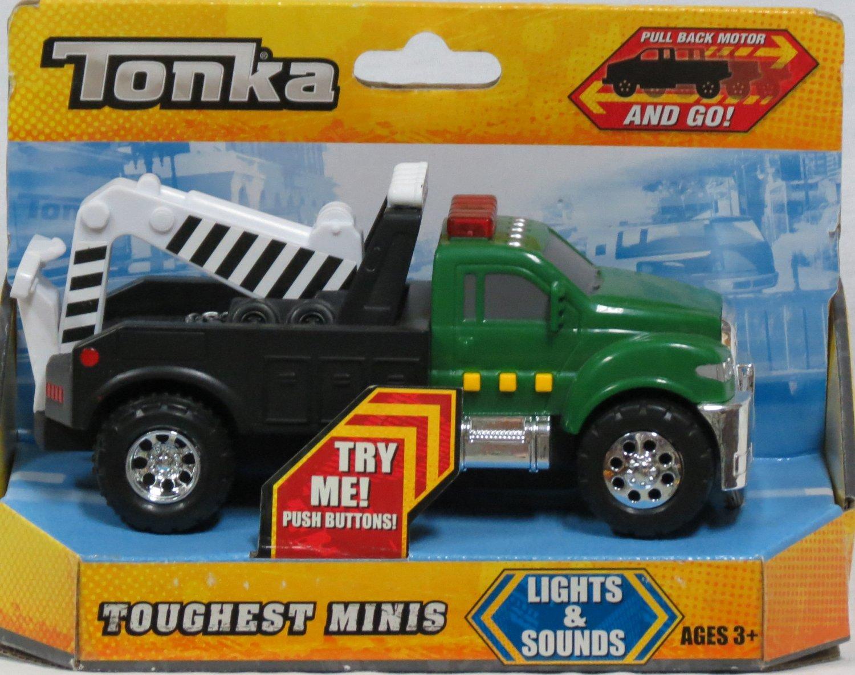 Tonka Toughest Minis Lights Sounds Green Tow Truck