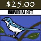 $ 25 Donation - Scrub-Jay Trail  (Individual Gift)