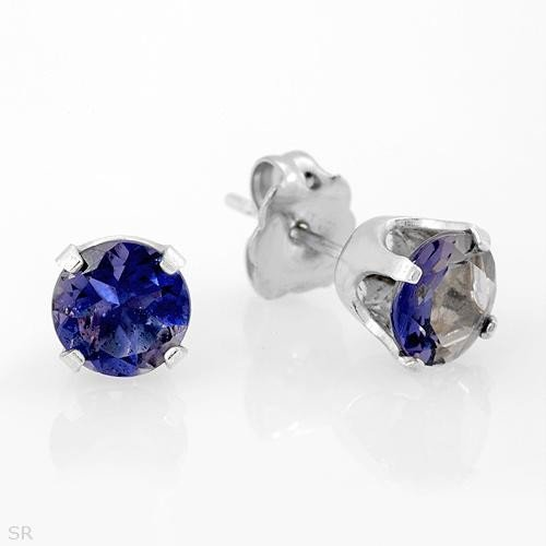 Sterling & Iolite Earrings