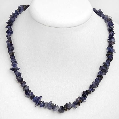 Natural Iolite Gemstone Necklace