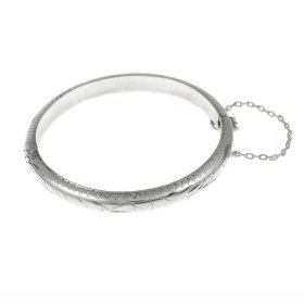 Sterling Silver Etched Baby/Toddler Bangle