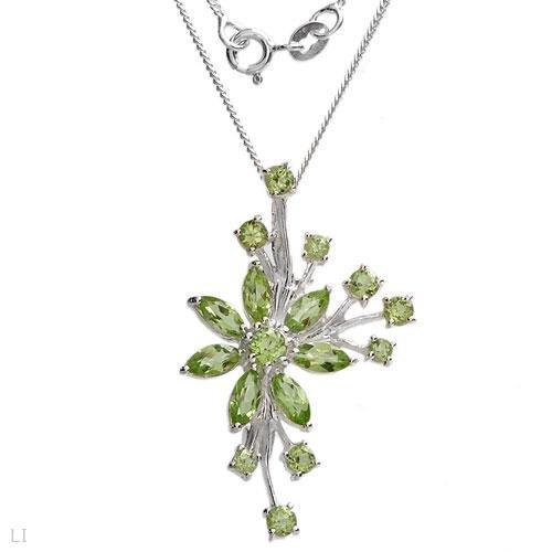 Sterling & Peridot Necklace/Brooch