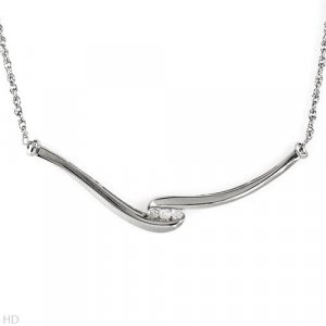 Sterling & Diamond Necklace