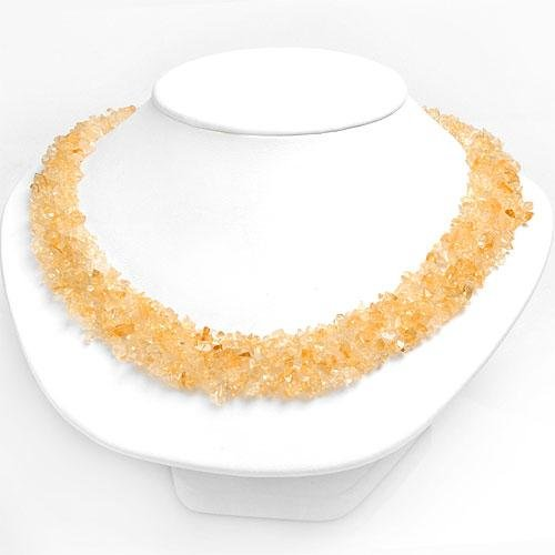 Genuine Citrine Collar Necklace