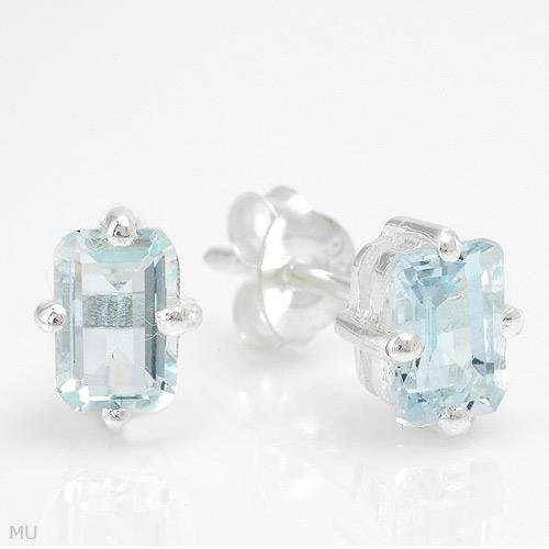 Sterling & Aquamarine Earrings