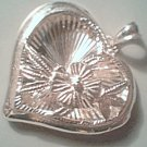 Sterling Silver Open Work Heart Pendant