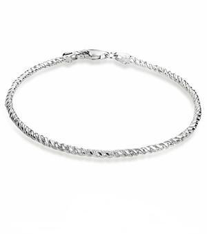 Sterling Silver DC Rope Bracelet