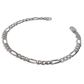 Sterling Silver 5MM Figaro Bracelet