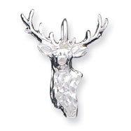 Sterling Silver Buck Head Pendant