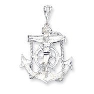 Sterling Silver Anchor Crucifix