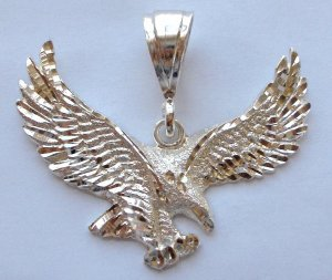 Sterling Silver DC Eagle in Flight Pendant