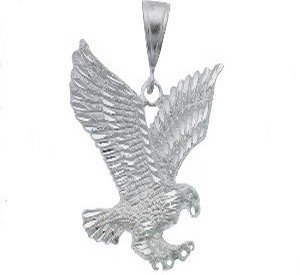 Sterling Silver DC Hunting Eagle Pendant