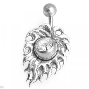 Sterling Silver Flame Belly Ring