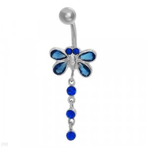 Sterling Silver Butterfly Belly Ring