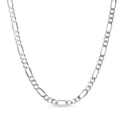 Sterling Silver Figaro 4MM Necklace