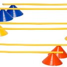 Champion Sports Disc Cone Hurdles Set 6