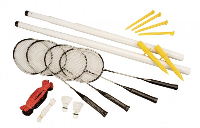 Champion Sports Deluxe Badminton Racket Net Set FREE SHIPPING