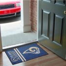 ST LOUIS RAMS NFL UNIFORM MAT JERSEY GAME RUG FREE SHIP