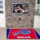 BUFFALO BILLS NFL FOOTBALL TEAM AREA RUG GAME MAT 4 x 6
