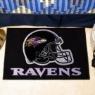 BALTIMORE RAVENS NFL FOOTBALL TEAM HELMET RUG GAME MAT
