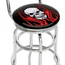 FLAME SKULL BIKER TRIBAL BAR STOOL PUB CHAIR FREE SHIPP