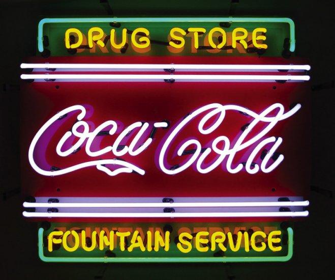 Coca Cola Coke Drug Store Soda Pop Fountain Neon Sign