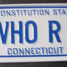 1982 CEREAL BOX BICYCLE STATE LICENSE PLATE CONNECTICUT