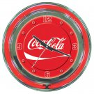 COCA COLA SODA POP COKE BOTTLE NEON SIGN WALL CLOCK NEW