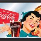 COKE COCA COLA SODA POP GLASS VINTAGE DINER MIRROR SIGN