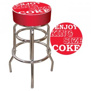 ENJOY KING SIZE COCA COLA COKE CHAIR BAR STOOL PUB SEAT