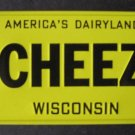 1982 CEREAL BOX BICYCLE STATE LICENSE PLATE WISCONSIN