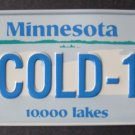 1982 POST CEREAL BICYCLE STATE LICENSE PLATE MINNESOTA