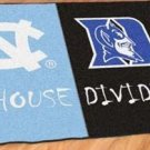 NORTH CAROLINA TARHEELS DUKE BLUE DEVILS GAME RUG MAT