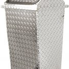 New Chrome Trash Can Metal Garbage Basket Lid FREE SHIP