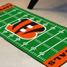 CINCINNATI BENGALS TEAM FIELD RUG GAME MAT FREE SHIP