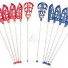 LACROSSE STICK BALL LOT 12 STICKS 6 BALLS GAME SET NEW