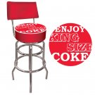 ENJOY KING SIZE COKE COCA COLA CHAIR BAR STOOL PUB SEAT
